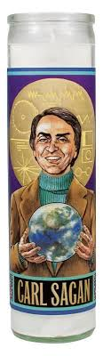 Carl Sagan Secular Saint Candle from <b>The Unemployed</b> ...