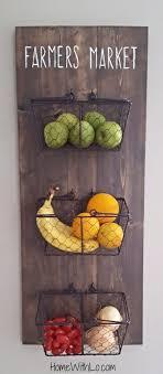 diy wall mounted produce baskets
