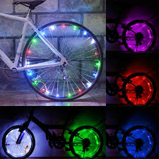 Lights On Wheels Of A Bicycle Us 1 16 27 Off Practical Cycling Bicycle Spokes Led Lights Night Riding Decorative Lights For Colored Mountain Bike Wheels Bicycle Accessories In
