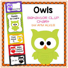 Owl Behavior Clip Chart Behavior Clip Chart Behavior Management Owls
