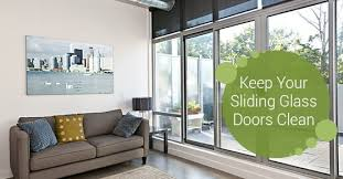 keep your sliding glass doors clean