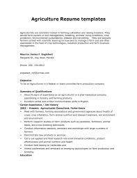 Sample Resume For Agriculture Graduates Agriculturist resume templates sample agriculture resumes sufficient 1