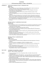 Senior Contract Administrator Resume Samples Velvet Jobs
