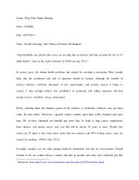 essay on cigarette smoking smoking should be banned essay under fontanacountryinn com