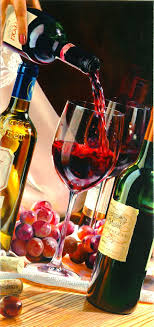 wine bar painting by e denis wine art