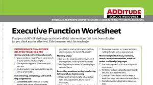 Homework Chart For Middle School Common Executive Function Challenges Adhd Back To School