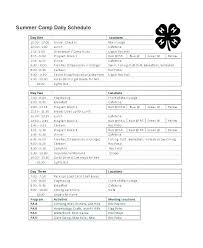 Summer Daily Schedule Template Pick Up Schedule Template Driver Delivery Schedule Template Pick Up