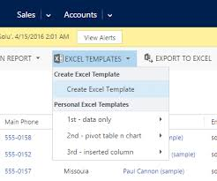 Excel Crm Templates Update View Fields In Dynamics Crm 2016 Excel Templates Microsoft