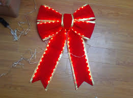Lighted Holiday Bow Hot Item Red Lighted Christmas Bows Wholesale