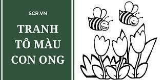 Tranh Tô Màu Con Ong ❤️ Hình Chú Ong Cho Bé Tập Tô