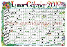 The Year Calendar 2019 Lunar Calendar Wiccan Rede And Wheel Of The Year Pagan Poster