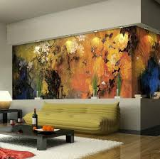 15 Refreshing Wall Mural Ideas For Your Living Room. View Larger