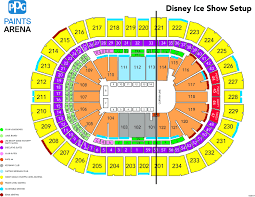 Pittsburgh Arena Seating Chart Cirque Du Soleil Crystal Ppg Paints Arena