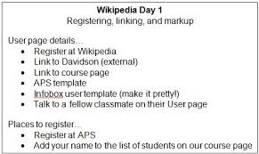 wikipedia article template having undergraduates write for wikipedia association for