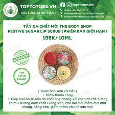 Tẩy da chết môi The Body Shop Festive Sugar Lip Scrub dưỡng môi hồng, mịn,  giảm thâm và khô sần môi tại Hà Nội