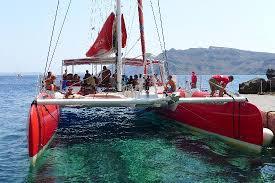 Dream Catcher Boat Santorini The Captain Goofing Around Picture of Santorini Sailing 15