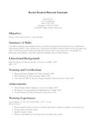 Student Resume Objectives Awesome Nursing Resume Objective Statement Examples Colbroco