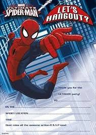 Invitaciones De Spiderman Para Editar Spiderman Invitaciones Para Fiestas 20 Hojas Y Sobres Amazon