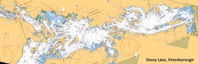 Smith Lake Depth Chart Composite Depth Chart Of Stony Lake I Made Happy Ice