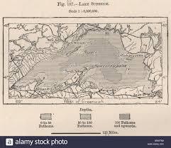 Lake Superior Depth Chart Lake Superior North America Canada 1885 Old Antique