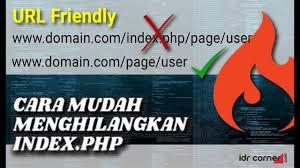 codeigniter cara singkat menghilangkan index php