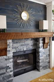 airstone faux stone fireplace makeover spring creek colored stones veneer stacked stone fireplace air over