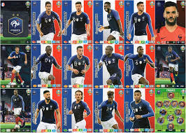 Covering the european championship, 2020 panini select uefa euro preview soccer highlights all national teams that qualified for the event based on featuring the 20 qualifying national teams, 2020 panini select uefa euro maintains the typical select formula for a base set. Panini Adrenalyn Xl Uefa Euro 2020 Full Eighteen 18 Map France Team Set Euros Amazon De Spielzeug