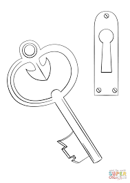 Small Picture Door Key and Keyhole coloring page Free Printable Coloring Pages