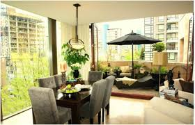 Outdoor Dining Rooms Design Unique Outdoor Dining Room Concept Interior With Green Plant