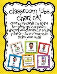 Classroom Job Chart Set Preschool Items Juxtapost