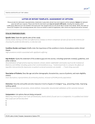 Letter Of Intent Template For The Assessment Of Prevention