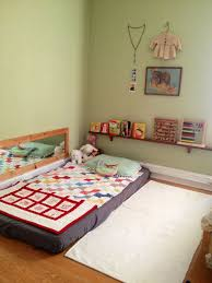 Bedroom: Inspiring Kids Floor Bed With Play Area - Floor Bed Designs