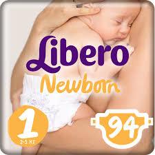 <b>Libero Подгузники Newborn</b> Size 1 (<b>2</b>-<b>5 кг</b>) 94 шт — купить в ...
