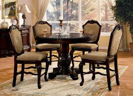 for furniture of america cerille 5 piece round formal dining set get free delivery at overstock your furniture ge