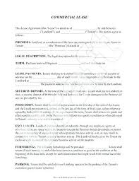Simple Commercial Lease Agreement Form Rental Template Tenancy ...