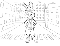 Free printable coloring pages for children that you can print out and color. Zootopia Coloring Pages Best Coloring Pages For Kids