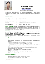 Cv Format Job Interview Curriculum Vitae Format For Job