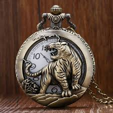 popular engraved pocket watches buy cheap engraved pocket watches vintage retro tiger carving engraved bronze quartz pocket watch men women meaningful fob watches chineses zodiac
