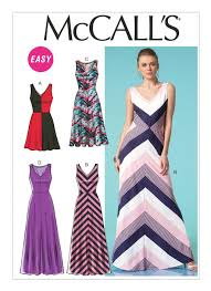 Mcalls Patterns Stunning M48 Misses' VNeckline Dresses Sewing Pattern McCall's Patterns