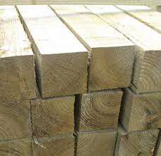 Pressure Treated 3m x 100mm x100 mmTimber Fence Post eBay