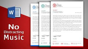 Header Template Word Create Modern Letterhead In Ms Word No Distracting Music Free Template