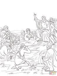Jesus Sermon On The Mount Coloring Page Free Printable Free