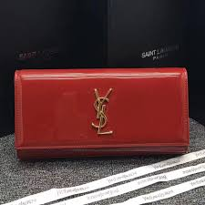 yves saint lau patent leather clutch 27cm red usa usa