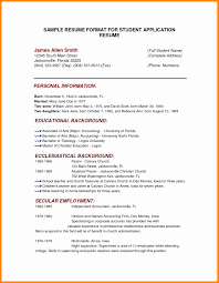 Personal Back Beautiful Personal Background Sample Resume Best