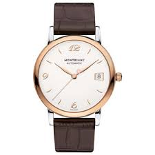 mens rose gold watches beaverbrooks the jewellers montblanc heritage spirit date rose gold diamond automatic men s watch