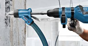 concrete drill. bosch gdemax professional dust extraction adaptor for chiseling concrete drill