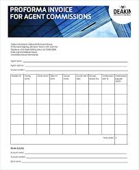 Proforma Invoice Agent Commission Proforma Invoice