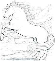 Wild Horses Coloring Pages Worksheet Free Printable Worksheets