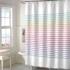 colorful fabric shower curtains. Color Stitch Shower Curtain Colorful Fabric Curtains T