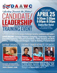 Political Event Flyer Daawc Candidate Leadership Training Flyer Notion Motion Llc
